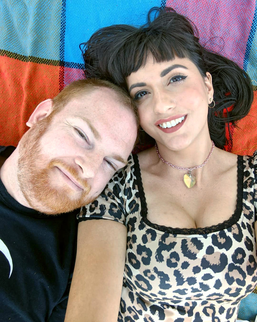 Ben Paddon & Mandy Oquendo, hosts of the podcast Out on her Fanny